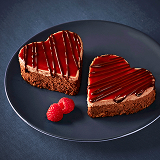 Chocolate Raspberry Cheesecake Hearts
