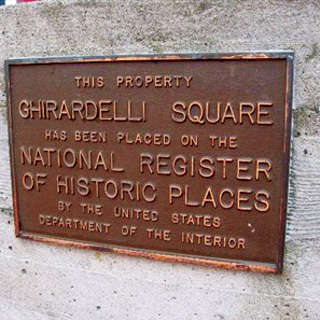 Ghirardelli Square  National Historic Register plaque