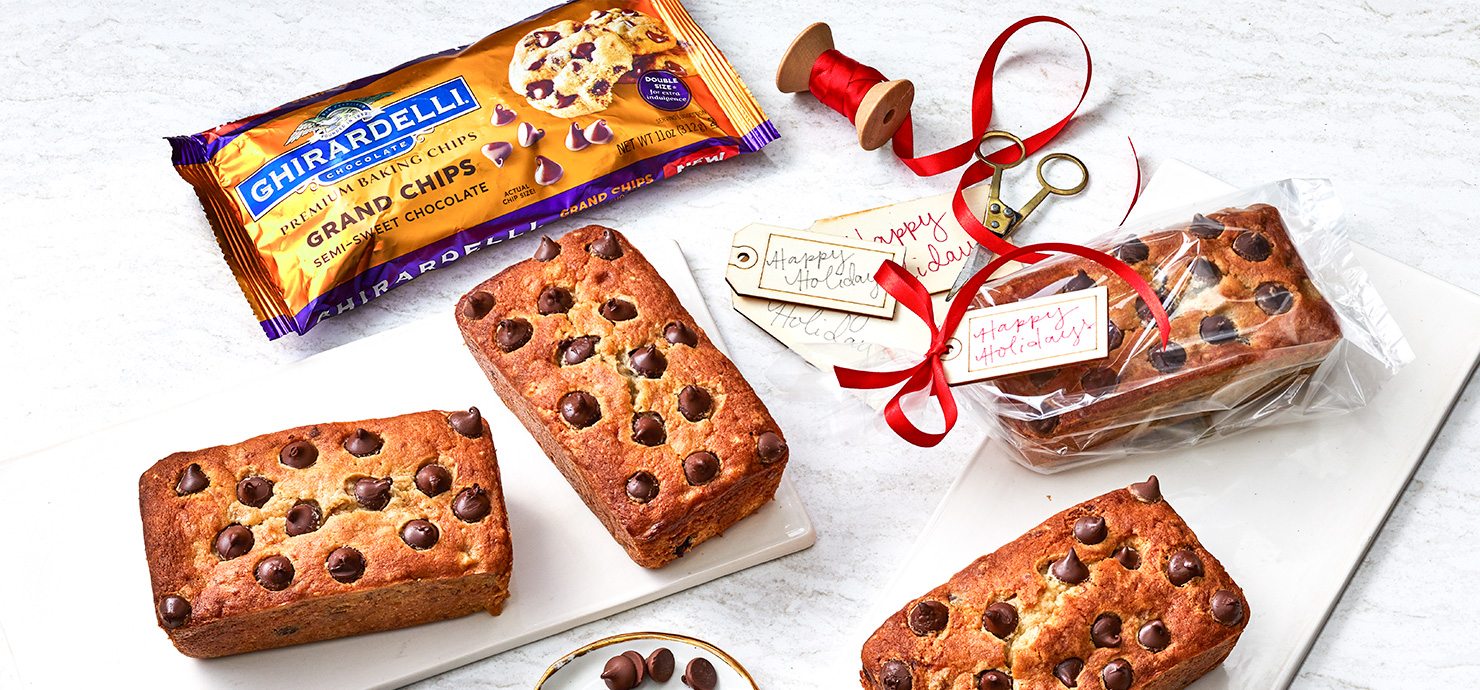 Image for Ghirardelli Grand Chocolate Chip Banana Loaves from Ghirardelli