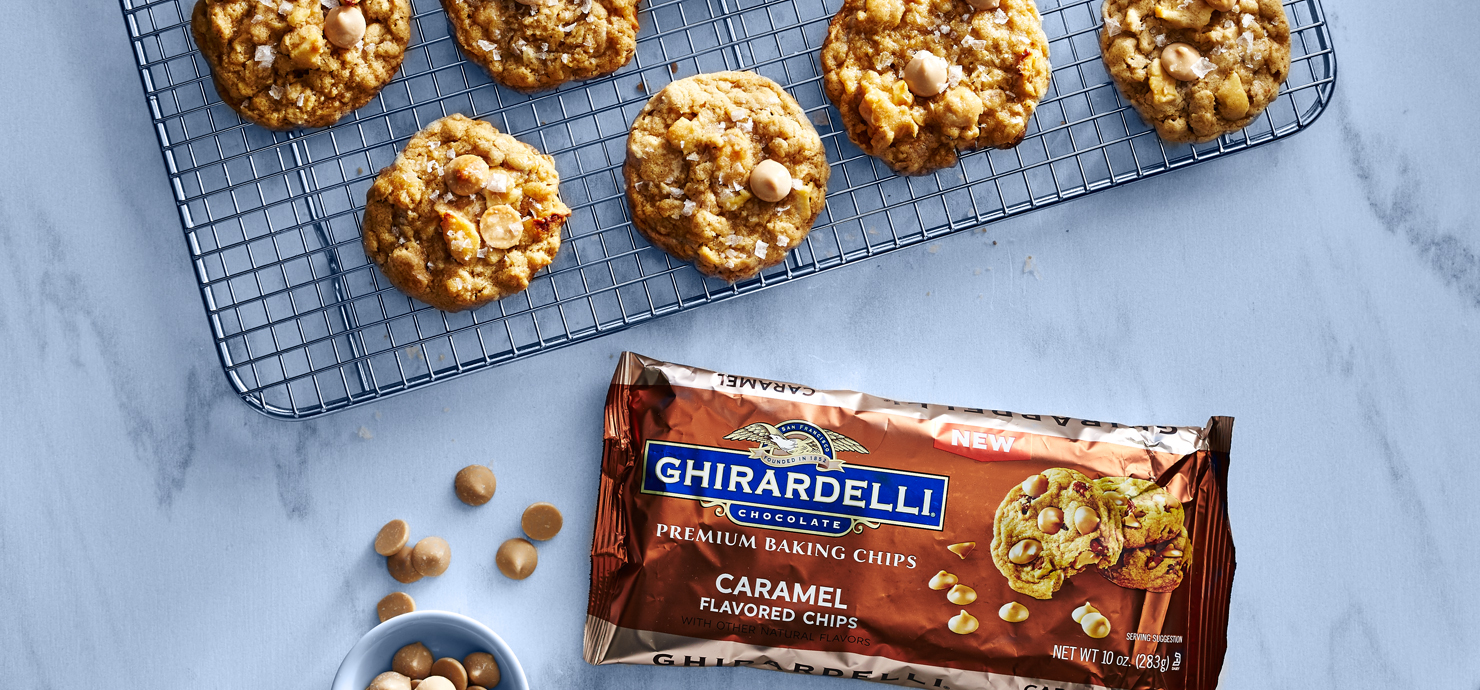 Image for Fall's Perfect Caramel Apple Cookies from Ghirardelli