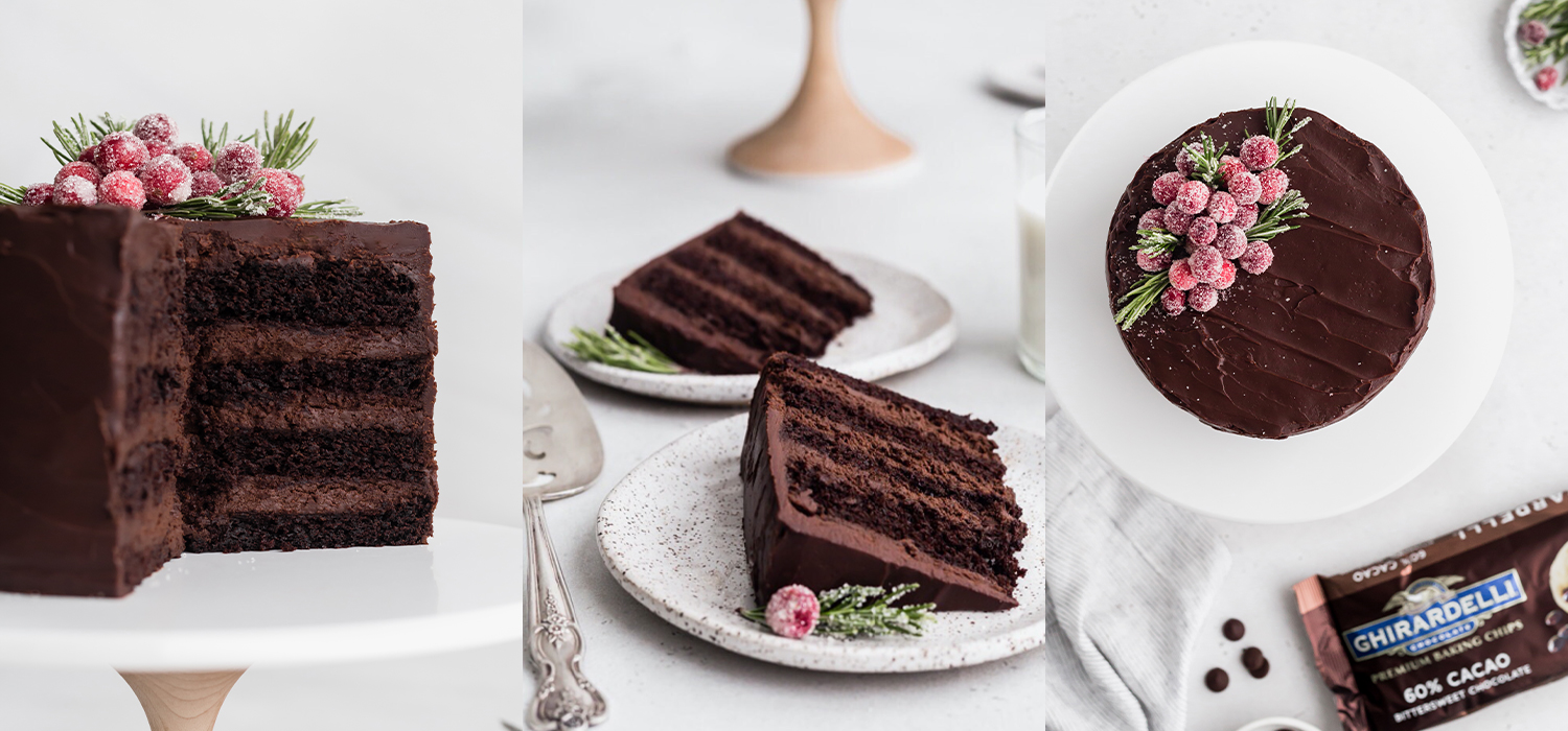 Image for Dark Chocolate Mousse Cake from Ghirardelli