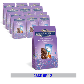 Dark Chocolate Sea Salt Caramel Bunny Stand Up Bag Case Pack (12 ct. / 4.14 oz. ea)