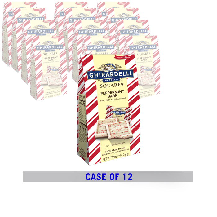Peppermint Bark SQUARES Large Gift Bags (Case of 12)