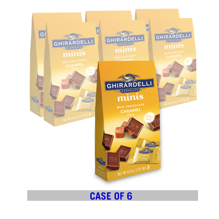 Milk Chocolate Caramel minis Stand Up Bag Case Pack (6 ct / 4.1 oz. ea)