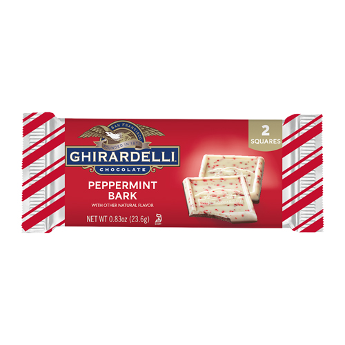 Image for Peppermint Bark 2pc SQUARES (Case of 18) from Ghirardelli