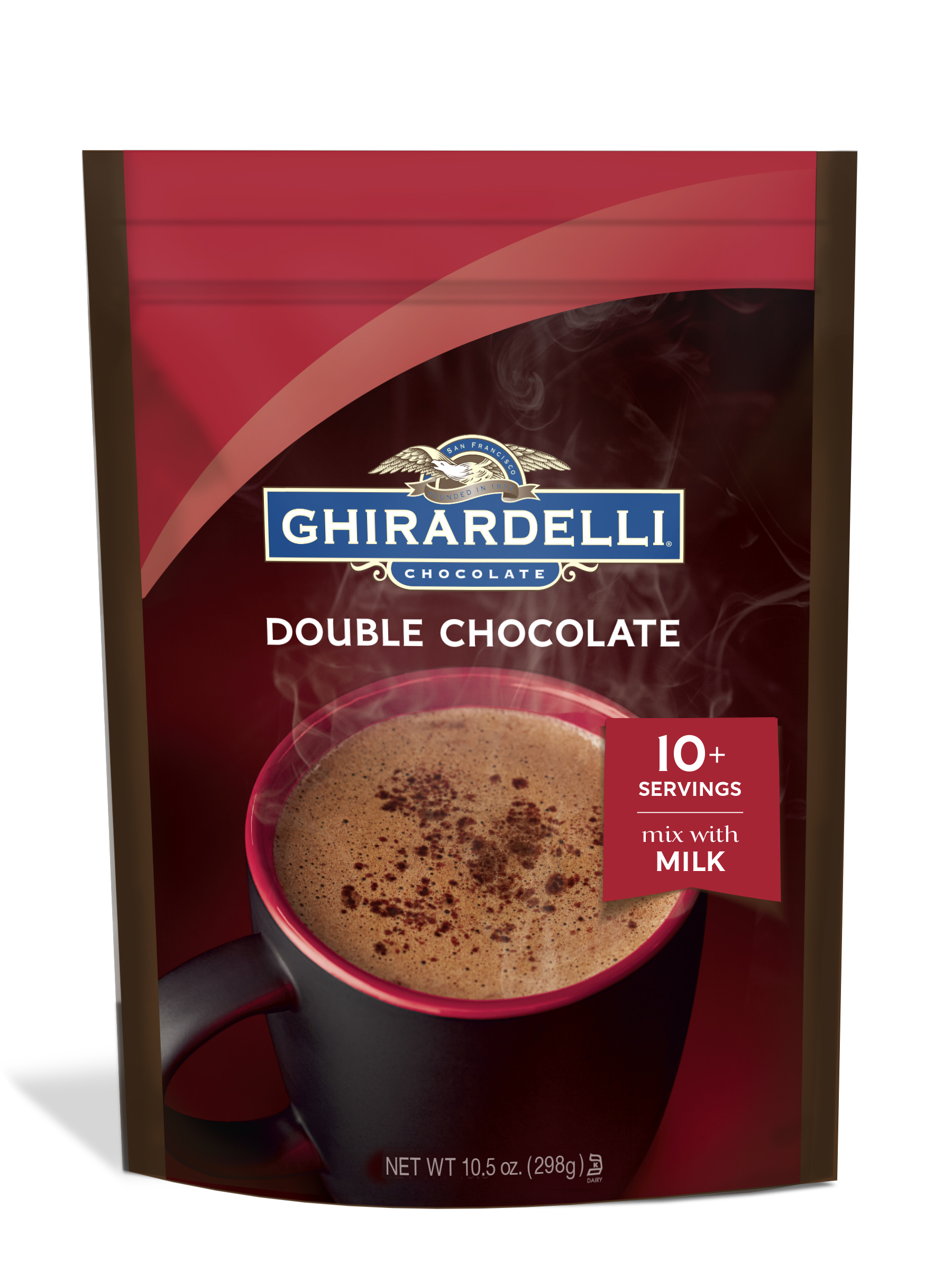Image for Double Chocolate Premium Hot Cocoa (10.5 oz.) from Ghirardelli
