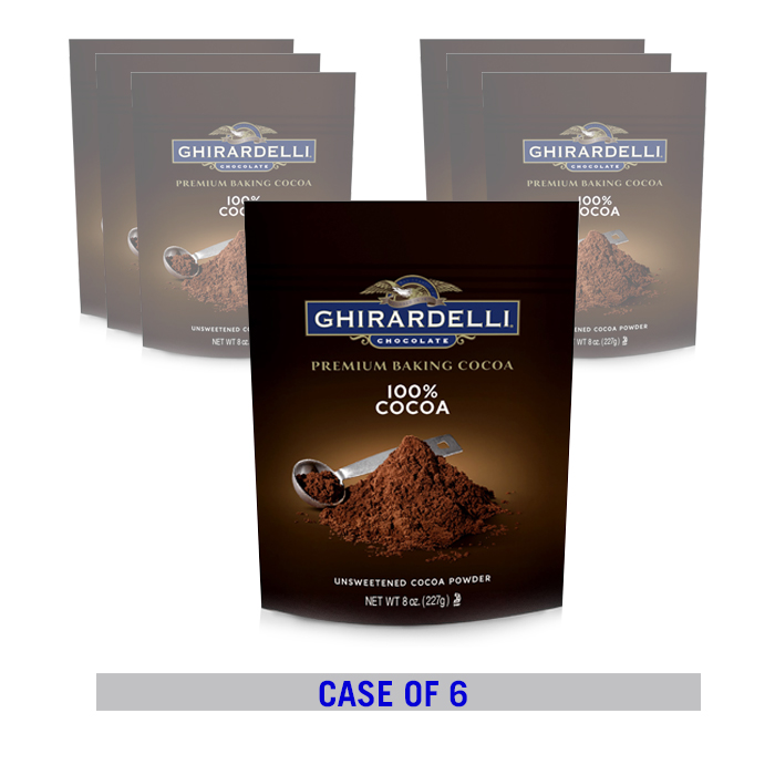 Image for 1 Case/ 6 Pouches 100% Unsweetened Ground Cocoa (8 oz.) from Ghirardelli