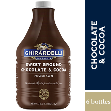 Sweet Ground Chocolate and Cocoa Sauce Case (6 ct / 87.3 oz. ea)
