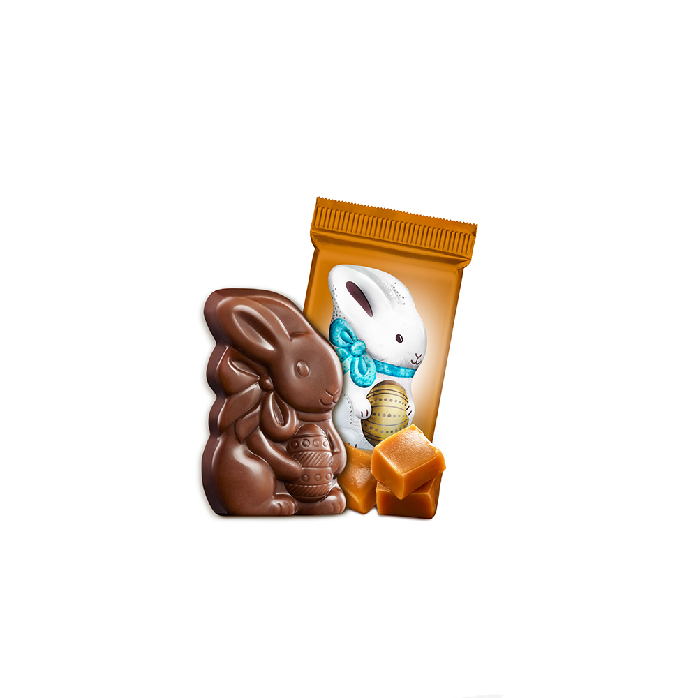 Milk Chocolate Caramel Flat Back Bunny Case Pack (500 ct.)