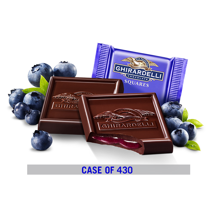 Image for Dark Chocolate Blueberry Square Case Pack (430 ct.) from Ghirardelli