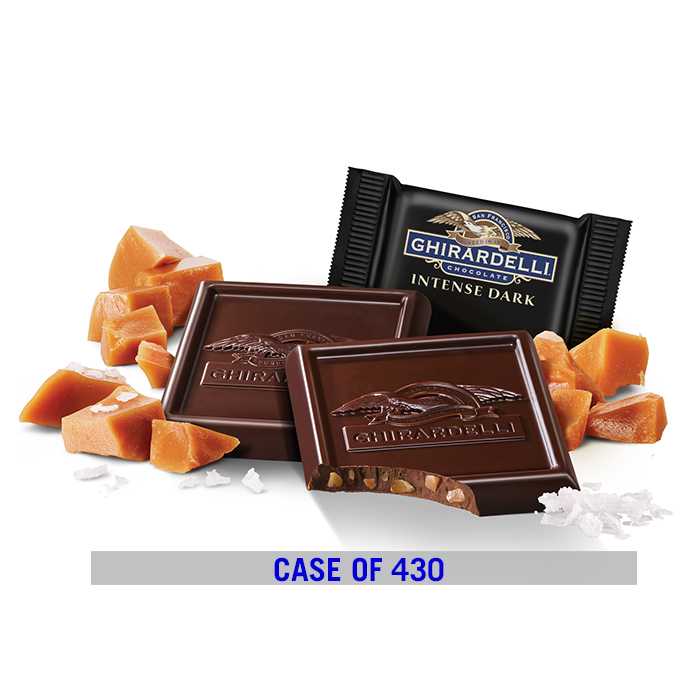 Intense Dark Chocolate  Salted Caramel Crunch SQUARES Case Pack (540 ct.)