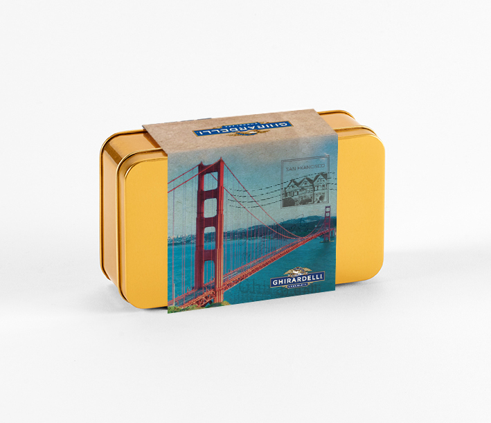 Custom Mix Golden Gate Bridge Tin with Assorted SQUARES (15 pc)