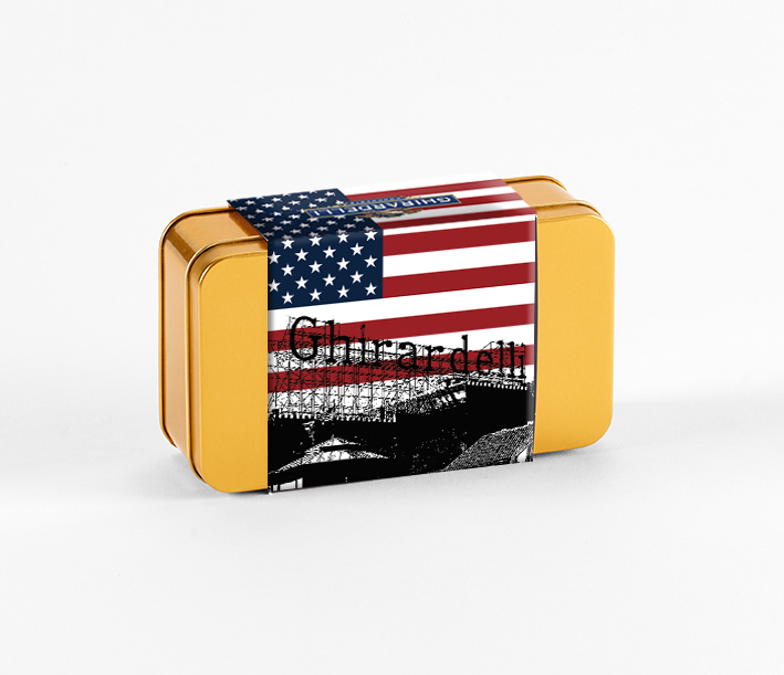 Pick and Mix Tin with Patriotic Ghirardelli Sleeve (15 pc)