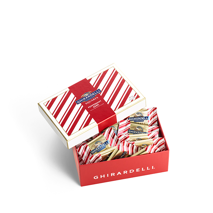 Peppermint Bark SQUARES Gift Box (20 pc)