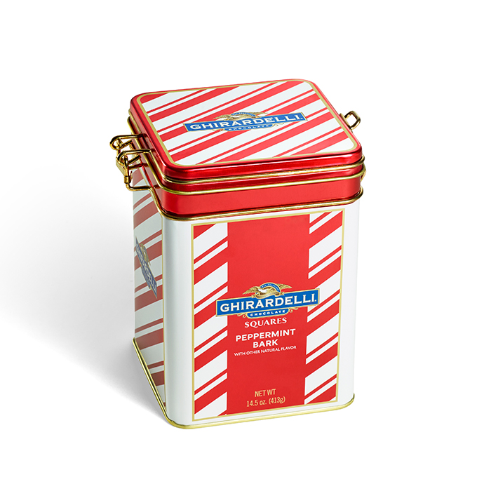 Peppermint Bark SQUARES Keepsake Tin (35 pc)