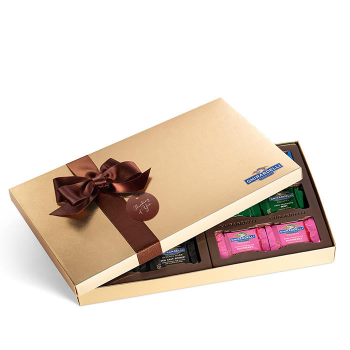 Dark Chocolate Assortment Gift Box with Thinking of You Tag (36 pc)