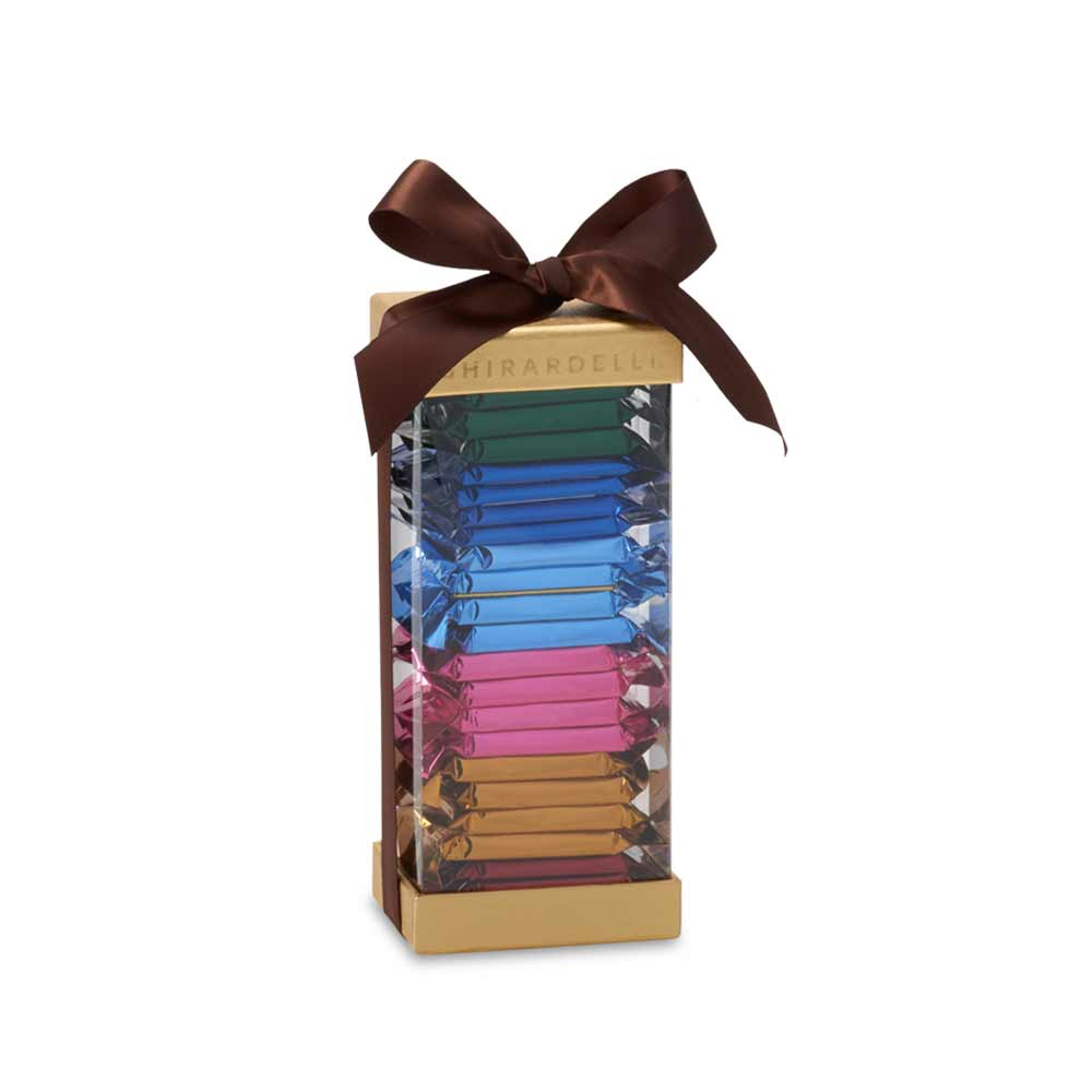Image for Tall Gold Acetate Gift Box (24 pc) from Ghirardelli