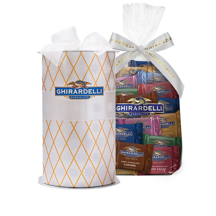 Holiday Brilliance Cylinder with Assorted SQUARES Gift Bag (80 pc)
