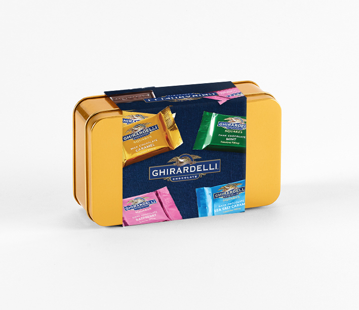 Pick and Mix Tin with Ghirardelli Squares Sleeve (15 pc)