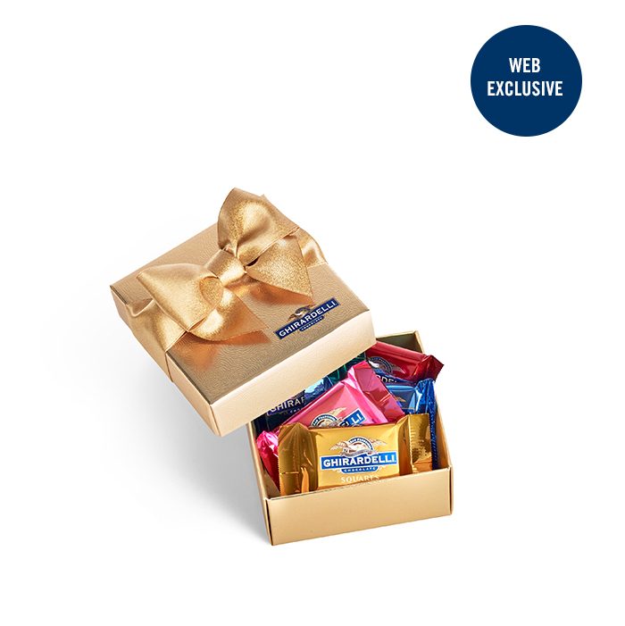 Image for Chocolate Favor Gift Box [Gold Ribbon]  (5 pc) from Ghirardelli