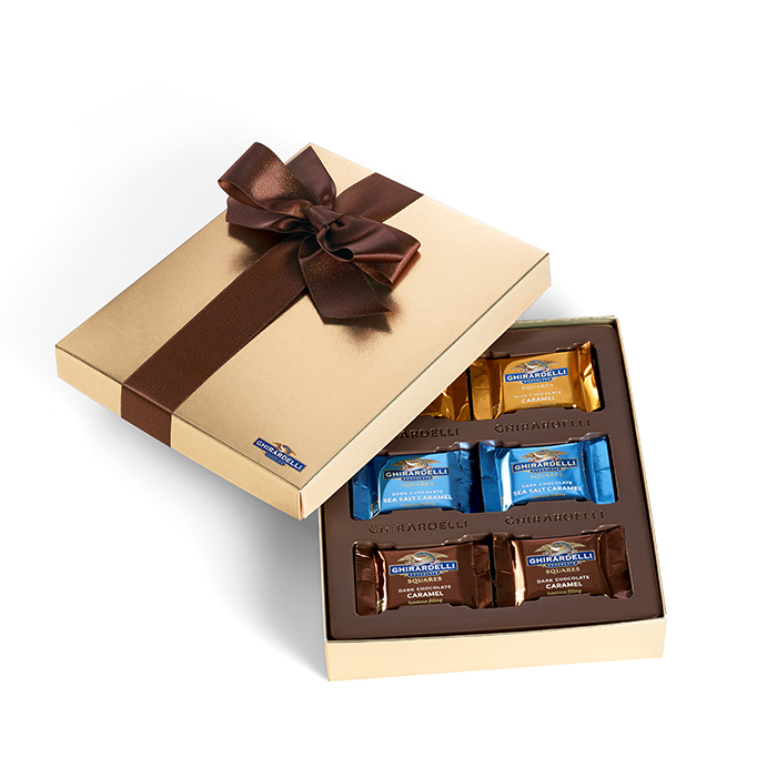 Image for Chocolate Caramel Assortment Gift Box  (18 pc) from Ghirardelli