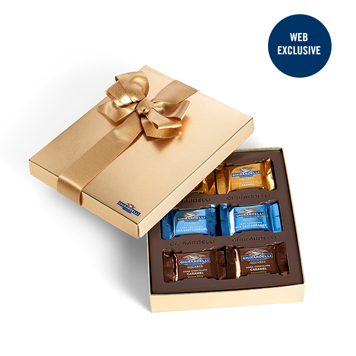 Image for Holiday Chocolate Caramel Assortment Gift Box  (18 pc) from Ghirardelli