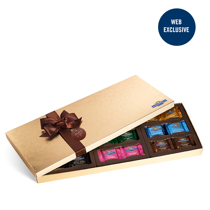 Image for Chocolate Lovers Assortment Gift Box with Thinking of You Tag (54 pc) from Ghirardelli