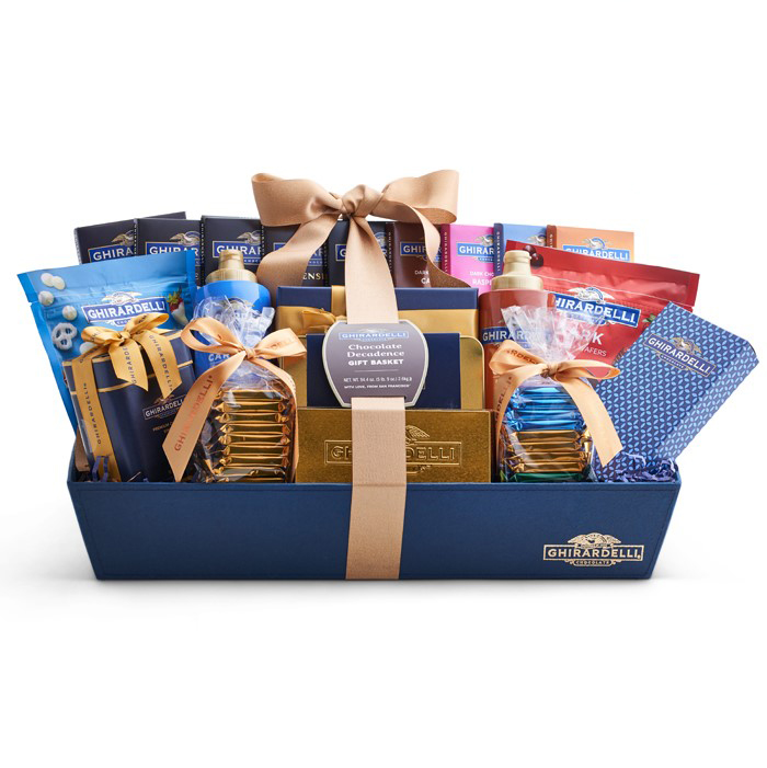 Image for Chocolate Decadence Gift Basket from Ghirardelli