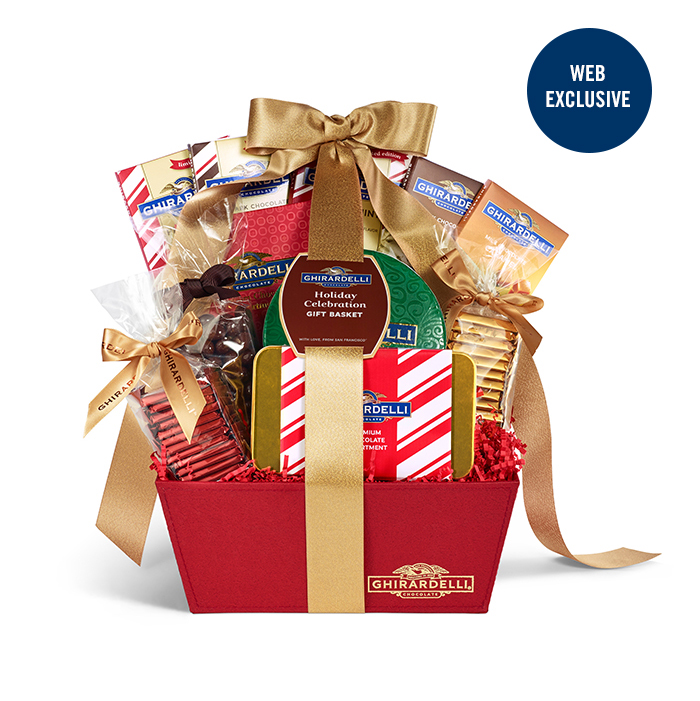 Image for Holiday Celebration Gift Basket from Ghirardelli