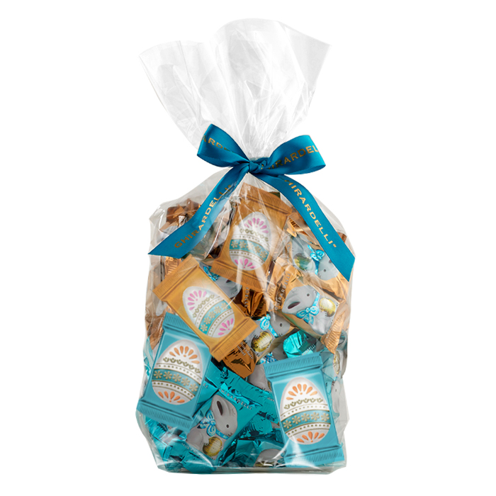 Image for Eggs and Bunnies Assorted Chocolate Gift Bag (80 pc) from Ghirardelli