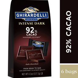 Image for Intense Dark Chocolate 92% Cacao SQUARES Bag Case Pack (6 ct. / 4.12 oz. ea) from Ghirardelli