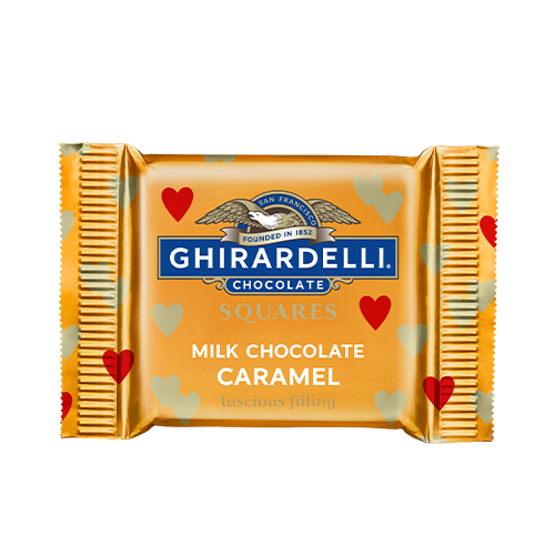 Image for Milk Chocolate Caramel Valentine SQUARES Case Pack (430 ct) from Ghirardelli