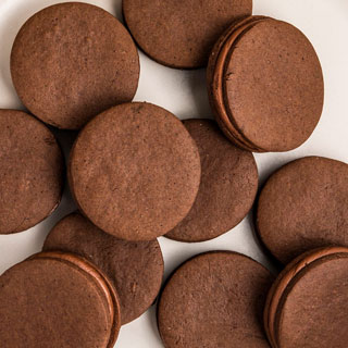Ghirardelli Double Chocolate Mini Sugar Cookie Sandwiches