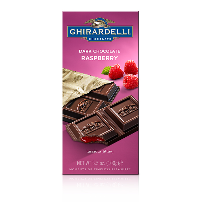 Image for Dark Chocolate Raspberry Bar (3.5 oz.) from Ghirardelli