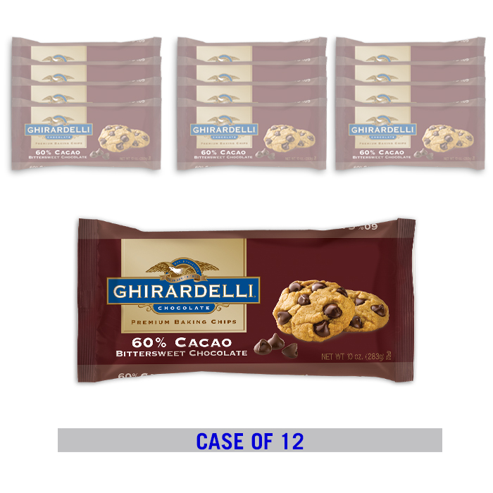 Image for Ghirardelli Bittersweet 60% Cacao Baking Chips  (12 ct. / 10 oz. ea) from Ghirardelli