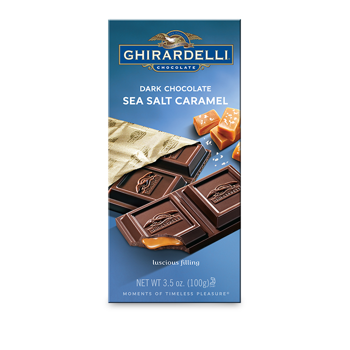 Image for Dark Chocolate Sea Salt Caramel Bar (3.5 oz.) from Ghirardelli
