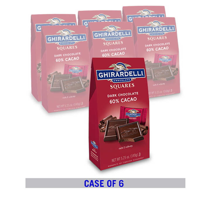 Image for Dark Chocolate 60% Cacao SQUARES Bag Case Pack  (6 ct. / 5.25 oz. ea) from Ghirardelli