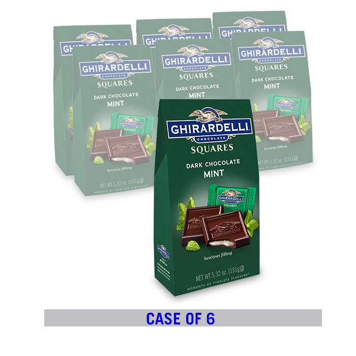 Image for Dark Chocolate Mint SQUARES Bag Case Pack (6 ct. / 5.32 oz. ea) from Ghirardelli