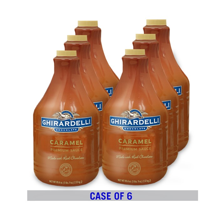 Image for Caramel Sauce Pump Bottle Case (6 ct / 90.4 oz. ea) from Ghirardelli