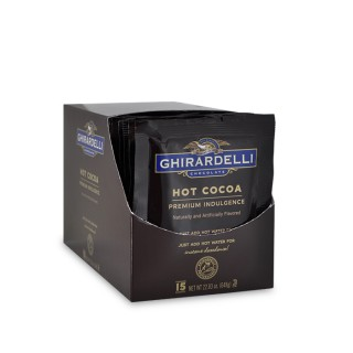 Image for Hot Cocoa Pouch - Just Add Water (15 Ct / 1.5 oz.) from Ghirardelli