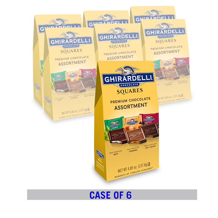 Image for Chocolate Assorted SQUARES Bag Case Pack (6 ct. / 4.85 oz. ea) from Ghirardelli