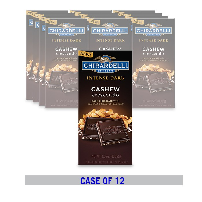 Image for Dark Chocolate Sea Salt Roasted Cashew Bar (12 ct. / 3.5 oz. ea) from Ghirardelli