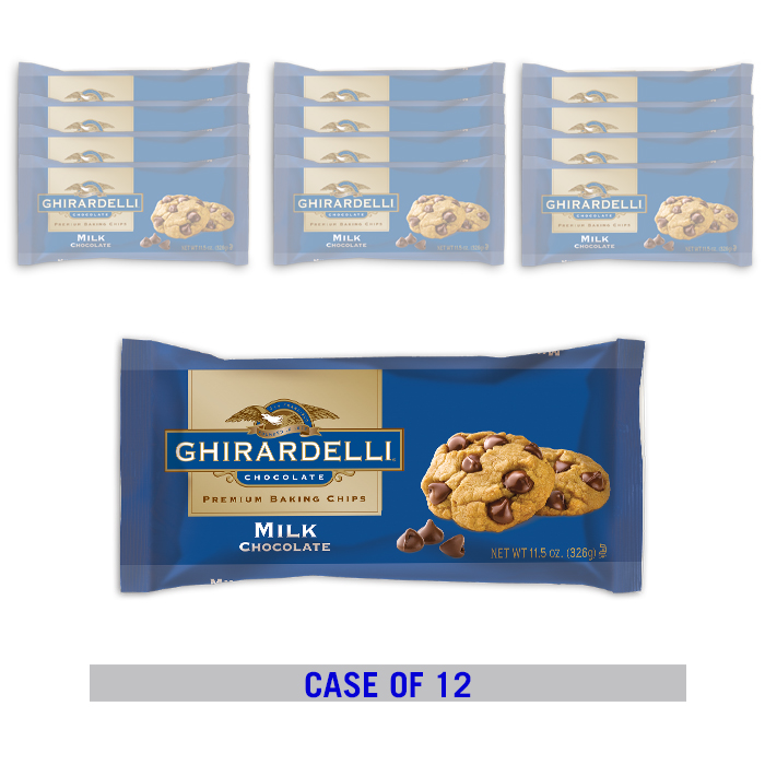 Image for Milk Chocolate Chips (12 ct. / 11.5 oz. ea) from Ghirardelli