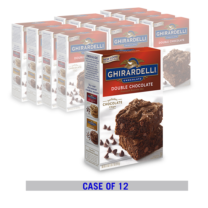 Image for Double Chocolate Brownie Mix (12 ct. case) from Ghirardelli