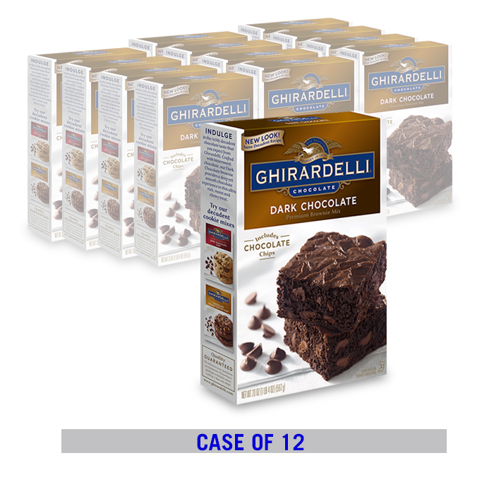 Image for Dark Chocolate Brownie Mix (12 ct. case) from Ghirardelli
