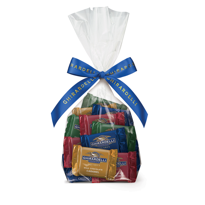 Image for Assorted Chocolate SQUARES Gift Bag (40 pc) from Ghirardelli