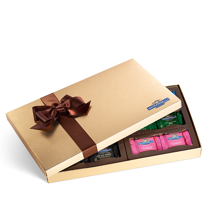 Image for Dark Chocolate Assortment Gift Box  (36 pc) from Ghirardelli