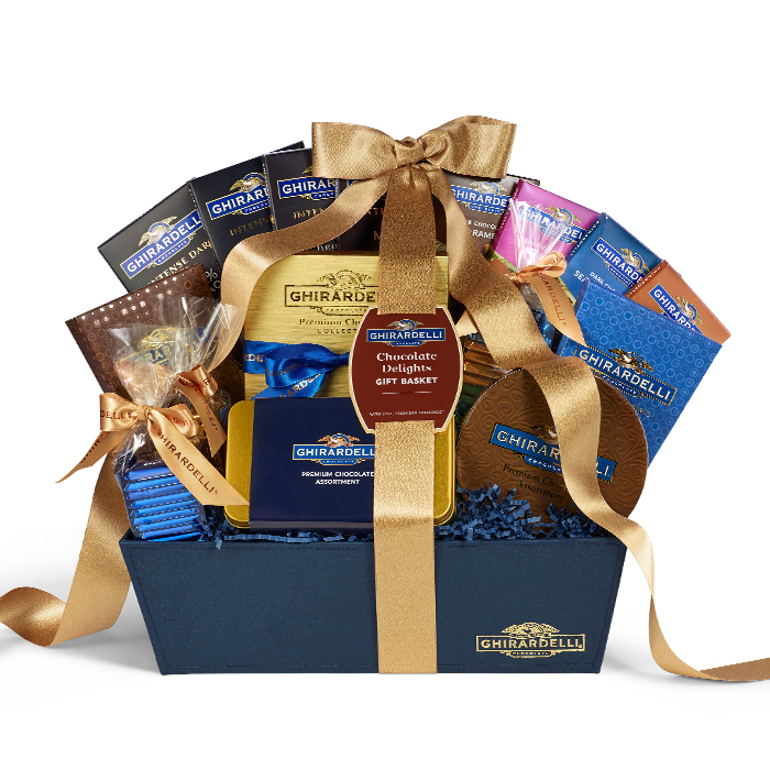 Image for Chocolate Delights Gift Basket from Ghirardelli