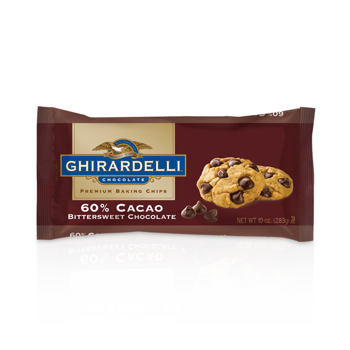 Ghirardelli Bittersweet 60% Cacao Baking Chips  (10 oz.)