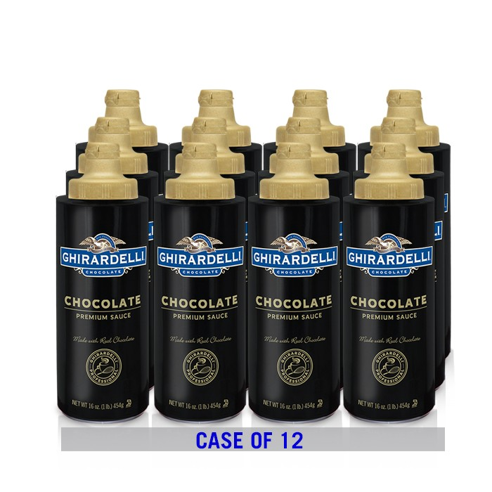Black Label Chocolate Sauce Squeeze Bottle Case (12 ct / 16 oz. ea)
